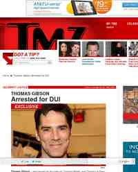 Thomas Gibson Arrested for DUI: TMZ.com